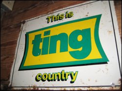 Ting Country Sign