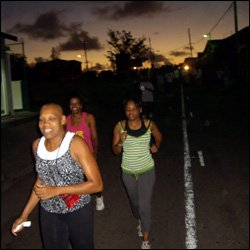 Walkers With A St. Kitts Sunrise For Company