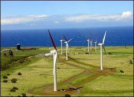 Wind Farm On A Hawaiian Island