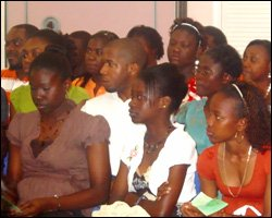 Youth Chat Attendees Listen Attentatively