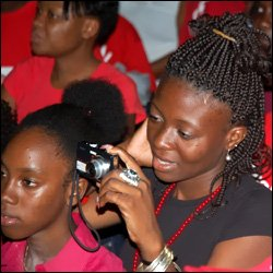St. Kitts - Nevis Youths At Labour Rally