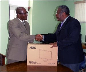 Hand-over of new PCs for St. Kitts rural areas