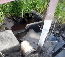 Oil Leaking Into Water Source