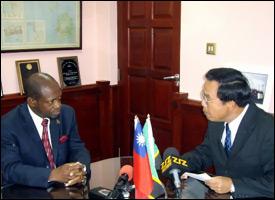 St. Kitts PM Douglas With Taiwan Ambassador Wu