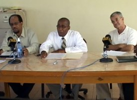 St. Kitts Department of Utilities Press Conference