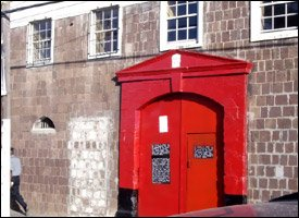St. Kitts Prison With Hanging Order On The Door