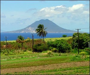 Statia As Seen From St. Kitts