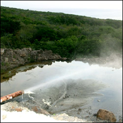 Steam From Nevis' Geothermal Well