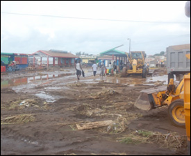 Damaged Ferry and Bus Terminal In St. Kitts