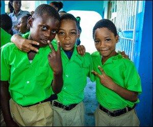 Young Students Using Gang Symbols