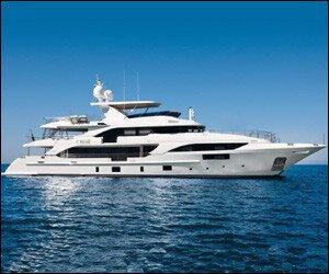 Super Yacht Off St. Kitts - Nevis
