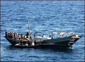 Suspected Pirate Ship Off Somali Coast