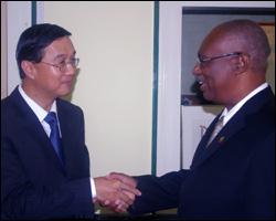 Taiwan Ambassador with Nevis Premier