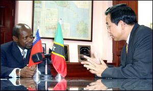 Taiwan Ambassador Wu - St. Kitts - Nevis PM Douglas