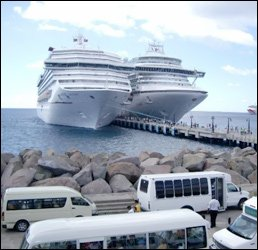 Taxi Drivers At Port Zante Await Tourists