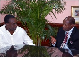TEMPO Founder Frederick Morton With PM Douglas