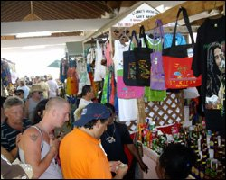 Tourists Shop At St. Kitts Market