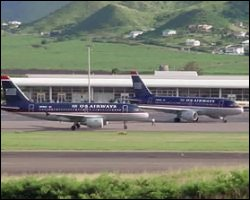 US Airways Planes In St. Kitts