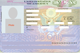 Sample US Visa