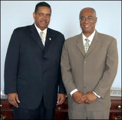 USVI Governor and Nevis Premier