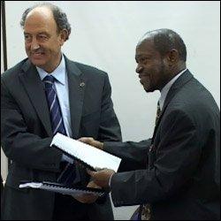 EC Ambassador Valeriano Diaz and PM Denzil Douglas
