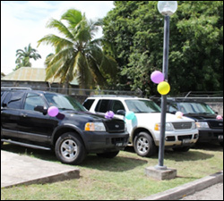 Vehicles Donated To Nevis Police By Four Seasons' Homeowners