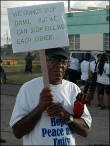 Victor Daley At St. Kitts - Anti-Crime Rally