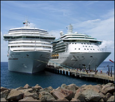Victory and Serenade Cruise Ships In St. Kitts