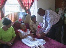 St. Kitts Resident - Violet Gumbs - Aged 101