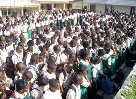 Students At Washington Archibald High School - St. Kitts
