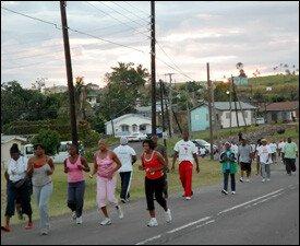 Wellness Walk Participants In April