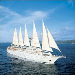 The Windstar Spirit Sails The Caribbean Waters