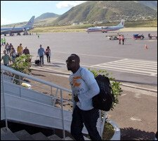 Wyclef Jean Arrives At St. Kitts Airport