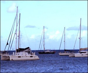 Yachts Anchored off St. Kitts