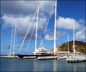 Yachts At Christophe Harbour