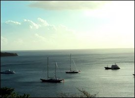 Yachts Anchored In Whitehouse Bay, St. Kitts