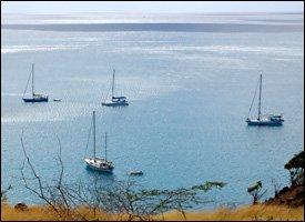 Yachts Anchored At New Moorings Off St. Kitts