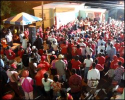 Youth Labour Party Members At Tabernacle Meeting